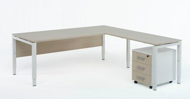 Domino dubbele opstelling bureau met ladeblokken eska office for Ladenblok kersen