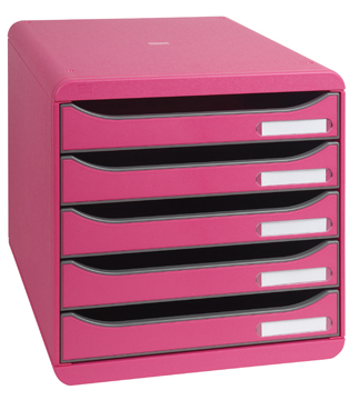 Exacompta ladenblok big box plus classic 5 laden roze for Ladeblok roze