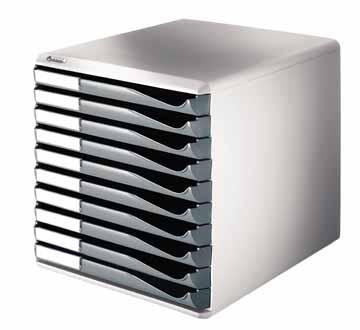 Leitz ladenblok met 10 laden lichtgrijs donkergrijs eska for Ladenblok of ladeblok