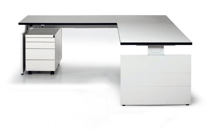 Swan bureautafel hoekbureau nova wangenpoot 180x80 cm eska office - Moderne kantoorbureaus ...
