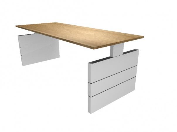 Swan bureautafel hoekbureau nova wangenpoot 200x80 cm for Bureau 200 cm