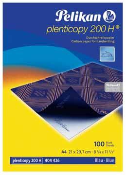 Pelikan carbonpapier a4 plenticopy 200h blauw pak van for Carbon papier