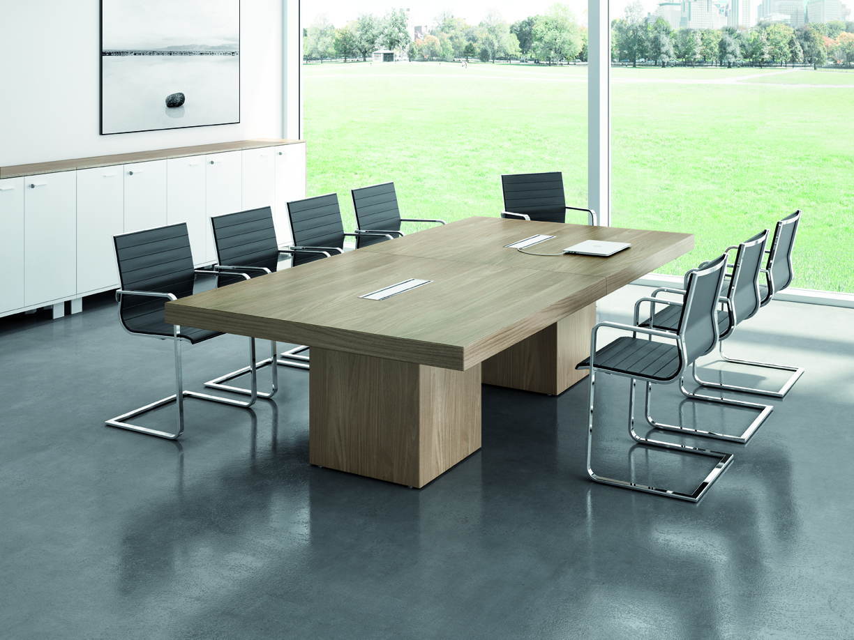 Quadrifoglio t45 meeting tafel eska office for Mobilier bureau quadrifoglio