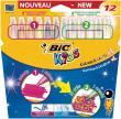 Bic Kids Viltstift Color & Create XL - 12 stiften: 6 gewone en 6 dekkende inkt