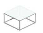 Salontafel Cubo-Slim Gesatineerd glas 80x80x40cm en 40x40x50cm