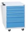 Gereedschapswagen 5 laden - grijs/blauw