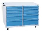 Gereedschapswagen 10 laden - grijs/blauw