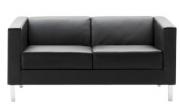 Schaffenburg design lounge sofa zwart Leder All-Tec serie 255