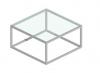 Salontafel Cubo-Slim Helder glas 80x80x40cm en 40x40x50cm