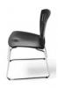 Swan Mood stoel, zwart sledeframe