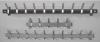 Wandkapstok 50cm met 5 jashaken