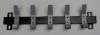 Wandkapstok Budget 50cm met 5 jashaken